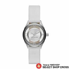 MARC BY MARCJACOBS マークバイマークジェイコブス 腕時計 ブランド レディース Tether ティザー シルバー/ホワイトレザーベルト MJ1460