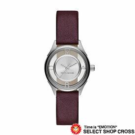 MARC BY MARCJACOBS マークバイマークジェイコブス 腕時計 ブランド レディース Tether ティザー シルバー/ダークブラウンレザーベルト MJ1461