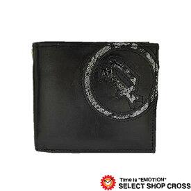 POLICE ポリス EVEN イーブン 二つ折り財布 PA-55502-10 ブラック