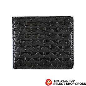 POLICE ポリス WING ウィング 二つ折り財布 PA-58800-10 ブラック
