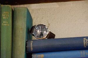 PAULSMITHポールスミスメンズ腕時計MAエムエーレザーベルトシルバー/ブラックP10051