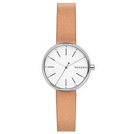【3年保証】 スカーゲン メンズ レディース ユニセックス 腕時計 SKAGEN 時計 スカーゲン 時計 SKAGEN 腕時計 人気 サイン SKW2594 ブランド ホワイト/ブラウン スカーゲン レディース
