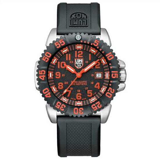 ルミノックスLUMINOX 腕時計 アナログ メンズウォッチ ネイビーシールズ カラーマークシリーズ 3165 ブラック/レッド(ラバーベルト) 【あす楽】