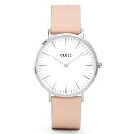 CLUSE クルース La Boheme ラ・ボエーム 腕時計 ブランド メンズ レディース ユニセックス 38mm シルバー ホワイト ヌード レザー シンプル エレガント CL18231 【あす楽】