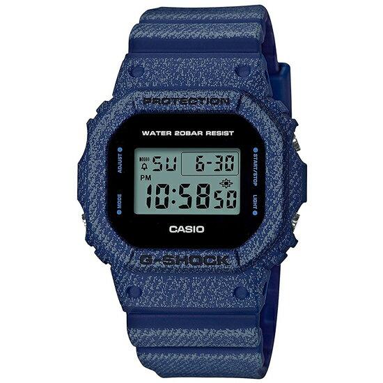 【3年保証】 カシオ 腕時計 CASIO Gショック G-SHOCK DW-5600DE-2DR 防水 ジーショック クオーツ メンズ デジタル 腕時計 DW-5600DE-2 DENIM'D COLOR デニムドカラー 海外モデル 黒 青 カシオ 腕時計 【あす楽】