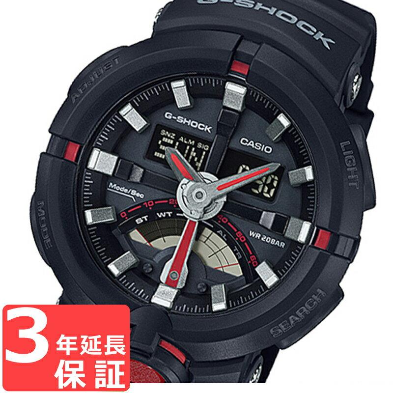 CASIO カシオ G-SHOCK ジーショック メンズ アナデジ アナログ デジタル クオーツ 腕時計 GA-500-1A4 海外モデル 黒×赤 スポーツ