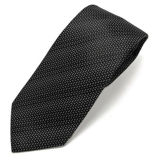 LANVIN ランバン ネクタイ シルク100% 幾何学模様柄 ブラック lanvin17-3031-6