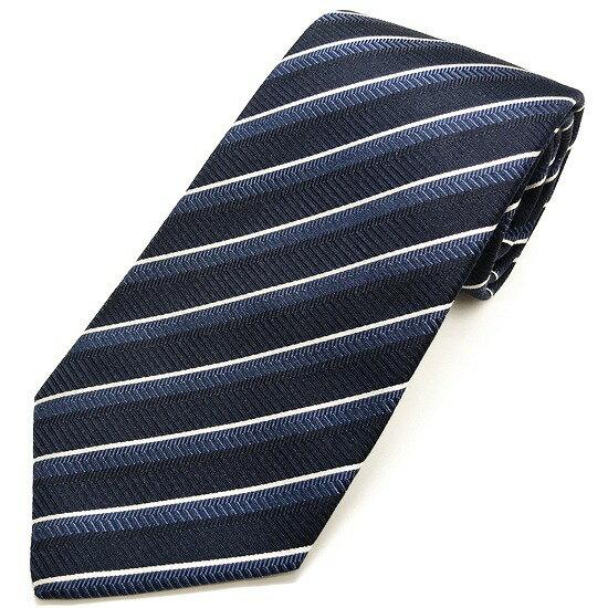 LUIGI BORRELLI ネクタイ シルク100% ストライプ柄 ブルー lb17-tt4179-12