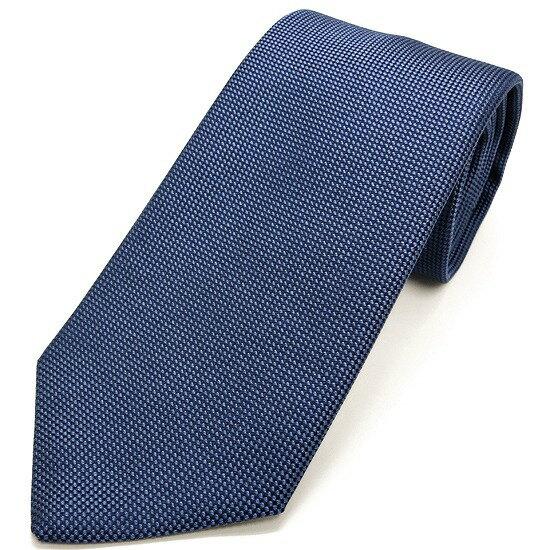 LUIGI BORRELLI ネクタイ シルク100% ドット柄 ブルー lb17-tt4188-06
