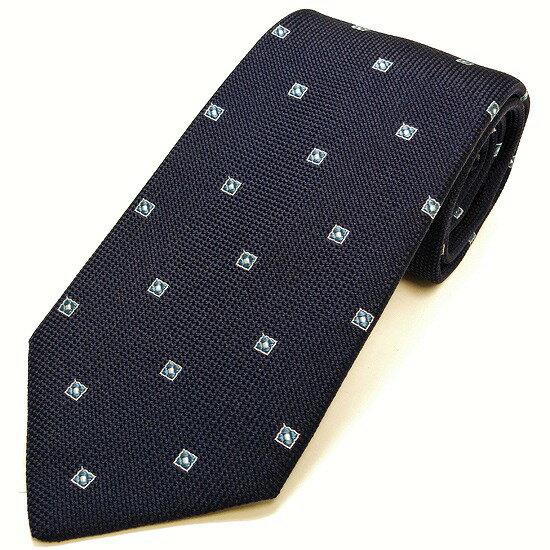 LUIGI BORRELLI ネクタイ シルク100% 小紋柄 ネイビー lb17-tt4211-01