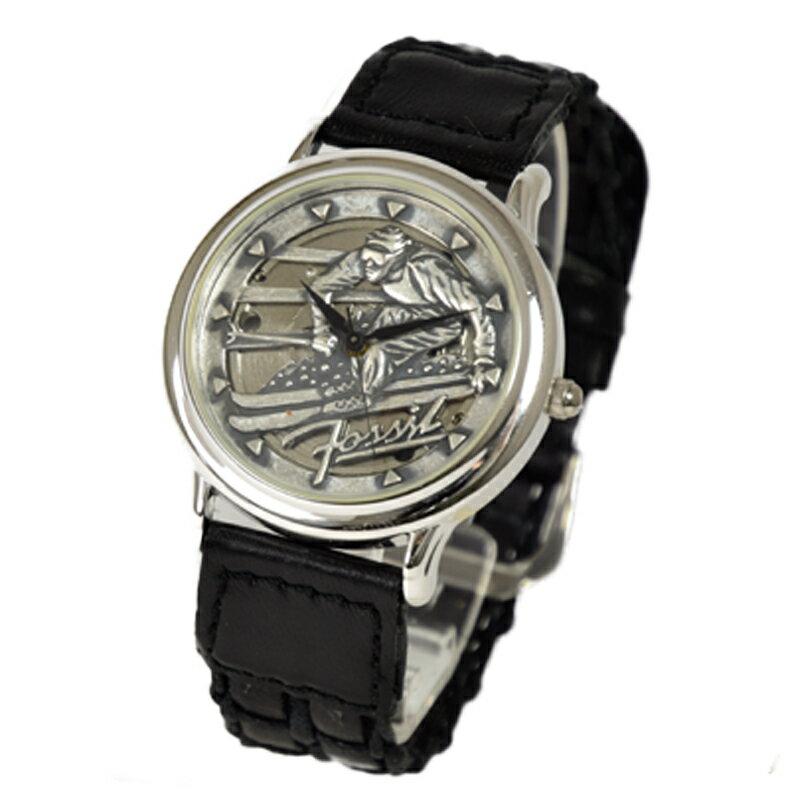 フォッシル FOSSIL 腕時計 アナログビンテージウォッチ フォッシルカーペンターウォッチスキー ブラウン 革ベルト レザー le-9454 【あす楽】