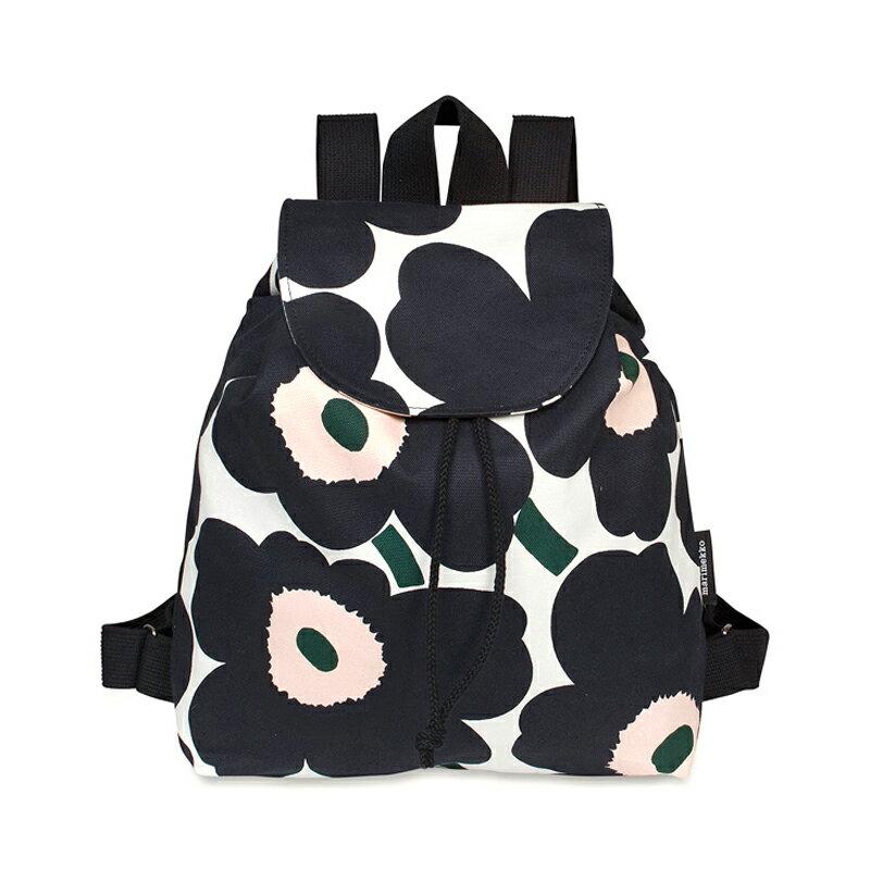 マリメッコ Marimekko レディース リュックサック バックパック ERIKA Pieni Unikko backpack エリカ ピエニ ウニッコ 046456 195 オフホワイト ダークグレー