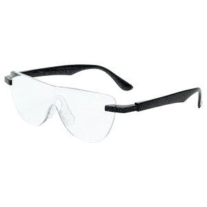 おしゃれ メガネルーペ メガネ式拡大鏡 ブラック 1.6倍 老眼鏡 眼鏡 遠近両用 男女兼用 ハンズフリーグラス 読書 MO-005-BK 【あす楽】