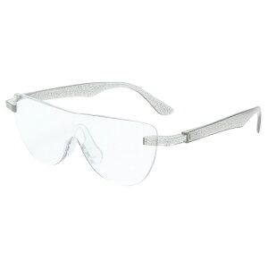おしゃれ メガネルーペ メガネ式拡大鏡 クリア 1.6倍 老眼鏡 眼鏡 遠近両用 男女兼用 ハンズフリーグラス 読書 MO-005-CL 【あす楽】