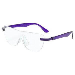 おしゃれ メガネルーペ メガネ式拡大鏡 パープル 1.6倍 老眼鏡 眼鏡 遠近両用 男女兼用 ハンズフリーグラス 読書 MO-005-PR 【あす楽】