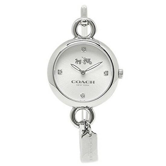 コーチ COACH クオーツ 腕時計 ブランド ハングタグシルバ− 細身 ブレスレット バングルレディース14502648