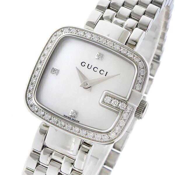 グッチ GUCCI Gグッチ クオーツ レディース 腕時計 YA125519 シェルホワイト