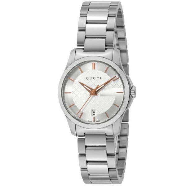 グッチ GUCCI Gタイムレス クオーツ レディース 腕時計 YA126523 シルバー