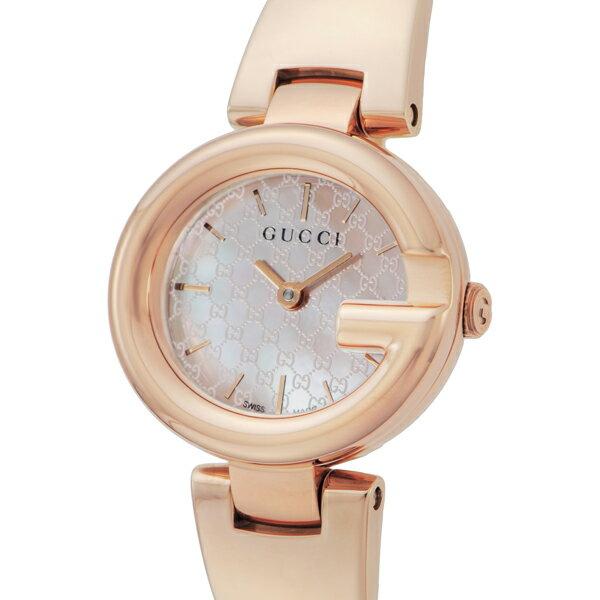 グッチ GUCCI グッチシマ クオーツ レディース 腕時計 YA134512 ピンクシェル