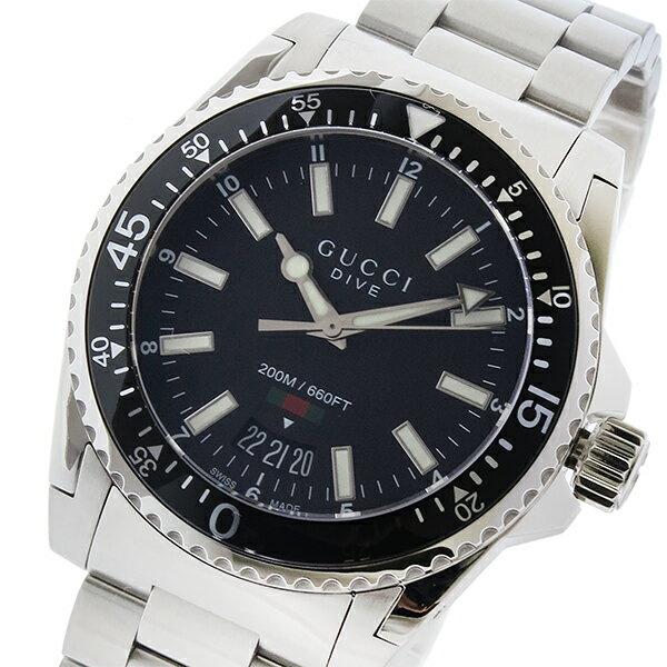 グッチ GUCCI ダイヴ DIVE クオーツ メンズ 腕時計 YA136301 ブラック