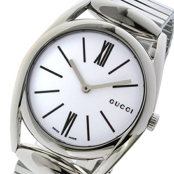グッチ GUCCI ホースビット HORSEBIT クオーツ レディース 腕時計 YA140405 ホワイト