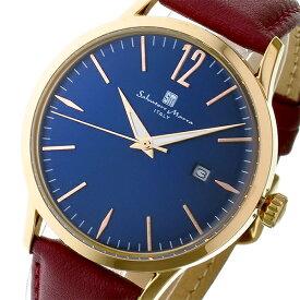 サルバトーレ マーラ SALVATORE MARRA 変えベルト付き クオーツ メンズ レディース ユニセックス 腕時計 ブランド SM17116-PGBL ブルー/ピンクゴールド