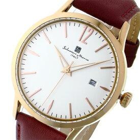 サルバトーレ マーラ SALVATORE MARRA 変えベルト付き クオーツ メンズ レディース ユニセックス 腕時計 ブランド SM17116-PGWH ホワイト/ピンクゴールド