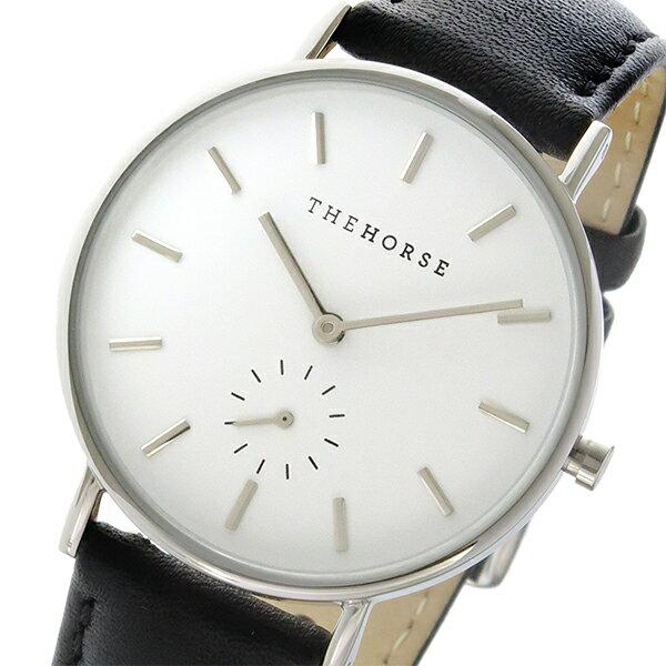 ザ ホース THE HORSE クラシック クオーツ ユニセックス 腕時計 AS01-B2 ホワイト/ブラック
