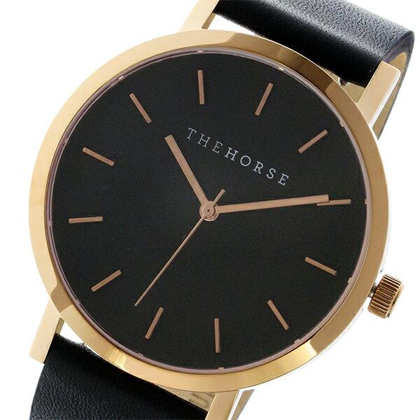 ザ ホース THE HORSE オリジナル クオーツ ユニセックス 腕時計 ST0123-A11 ブラック/ブラック