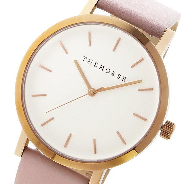 ザ ホース THE HORSE オリジナル クオーツ ユニセックス 腕時計 ST0123-A14 ホワイト/ブラッシュ