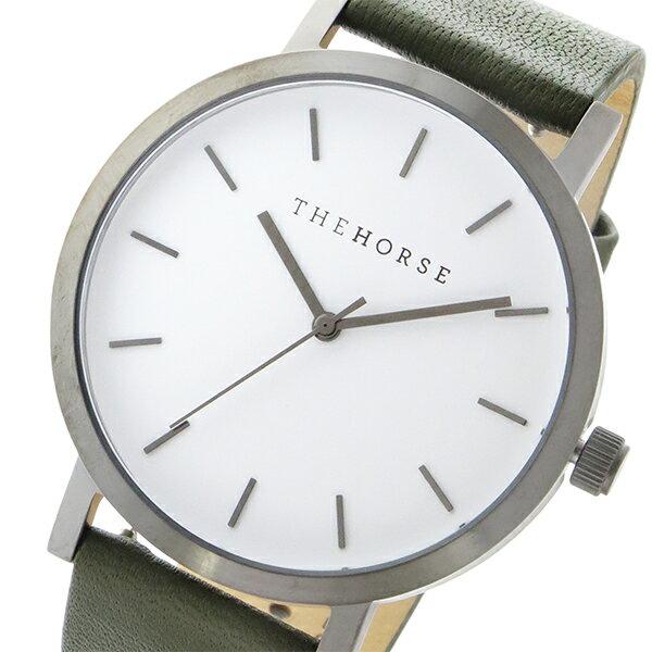 ザ ホース THE HORSE オリジナル クオーツ ユニセックス 腕時計 ST0123-A20 ホワイト/オリーブ