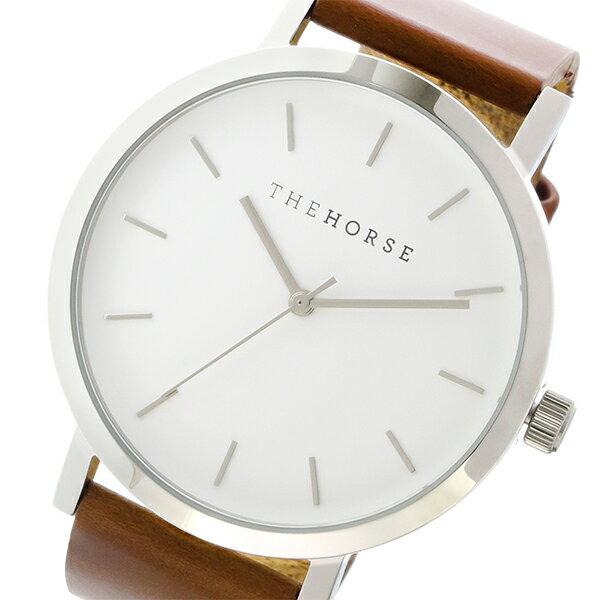 ザ ホース THE HORSE オリジナル クオーツ ユニセックス 腕時計 ST0123-A3 ホワイト/タン