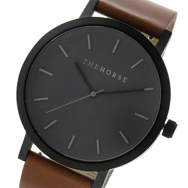 ザ ホース THE HORSE オリジナル クオーツ ユニセックス 腕時計 ST0123-A4 グレー/タン