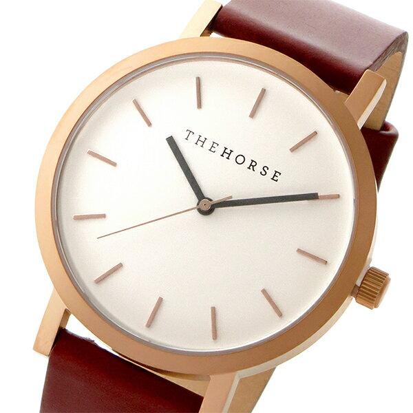 ザ ホース THE HORSE オリジナル クオーツ ユニセックス 腕時計 ST0123-A5 ホワイト/ウォルナット
