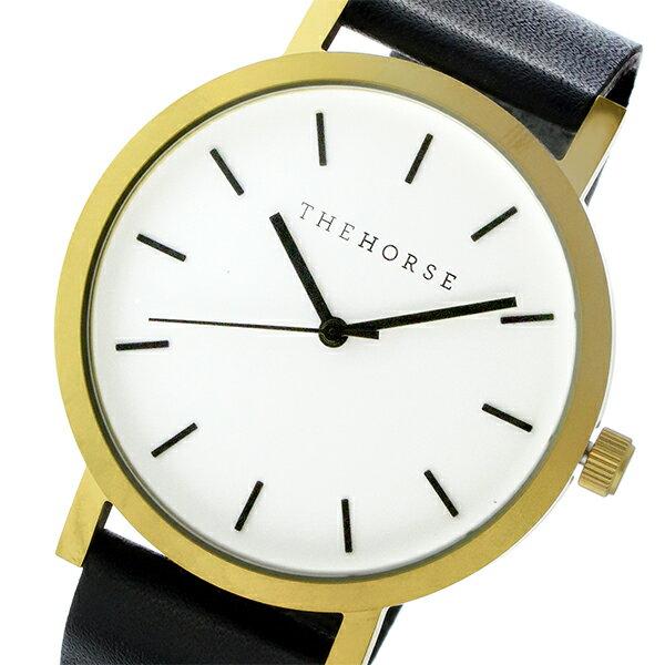 ザ ホース THE HORSE オリジナル クオーツ ユニセックス 腕時計 ST0123-A7 ホワイト/ブラック