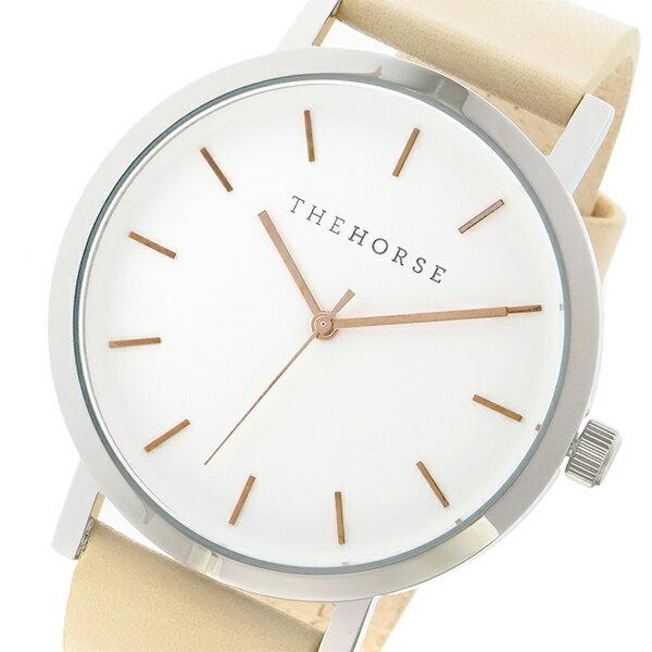 ザ ホース THE HORSE オリジナル クオーツ ユニセックス 腕時計 ST0123-A8 ホワイト/ベジタブルタン