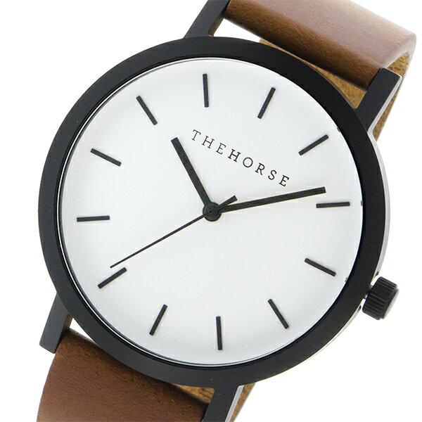 ザ ホース THE HORSE オリジナル クオーツ ユニセックス 腕時計 ST0123-A9 ホワイト/ウォルナット