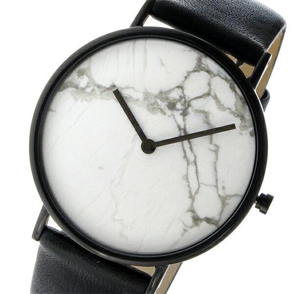 ザ ホース THE HORSE ストーンダイアル ユニセックス 腕時計 STO123-C2 ホワイトマーブル/ブラック