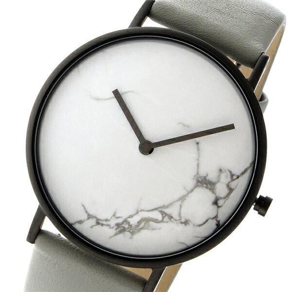 ザ ホース THE HORSE ストーンダイアル ユニセックス 腕時計 STO123-C3 ホワイトマーブル/グレー