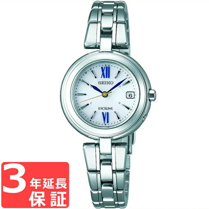 【予約2017年12月22日発売】SEIKO セイコー EXCELINE エクセリーヌ ソーラー電波修正 レディース 腕時計 SWCW131 【着後レビューを書いて1000円OFFクーポンGET】