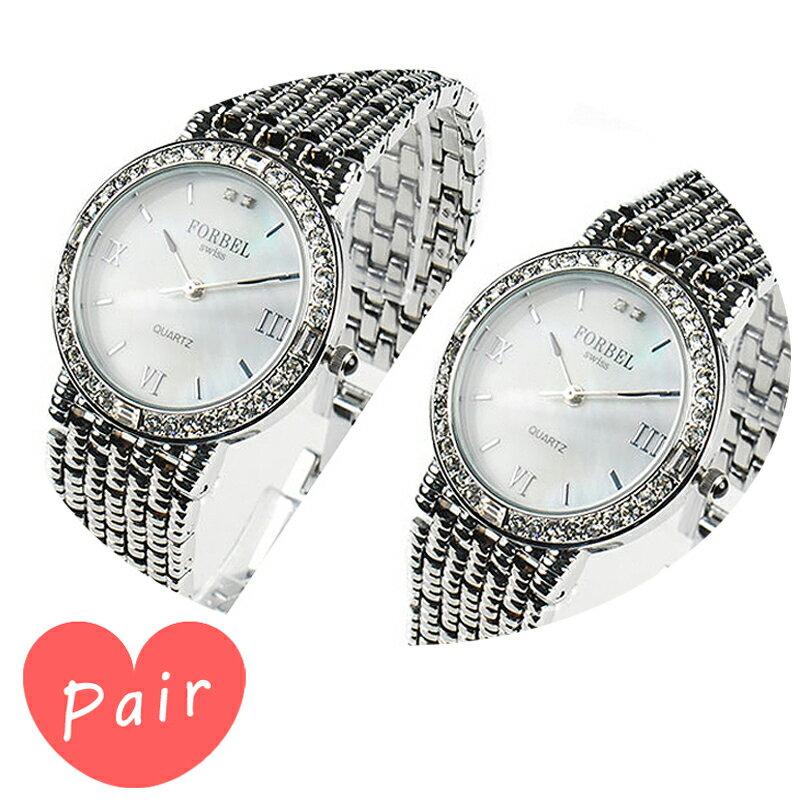 【ペアウォッチ】 FORBEL フォーベル腕時計天然ダイアモンド2石ホワイトシェル×シルバーホワイトシェル×シルバーfb-1089dgfb-1089dg