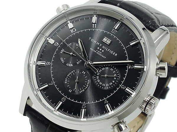 トミー ヒルフィガー TOMMY HILFIGER 腕時計 メンズ 1790875 ブラック