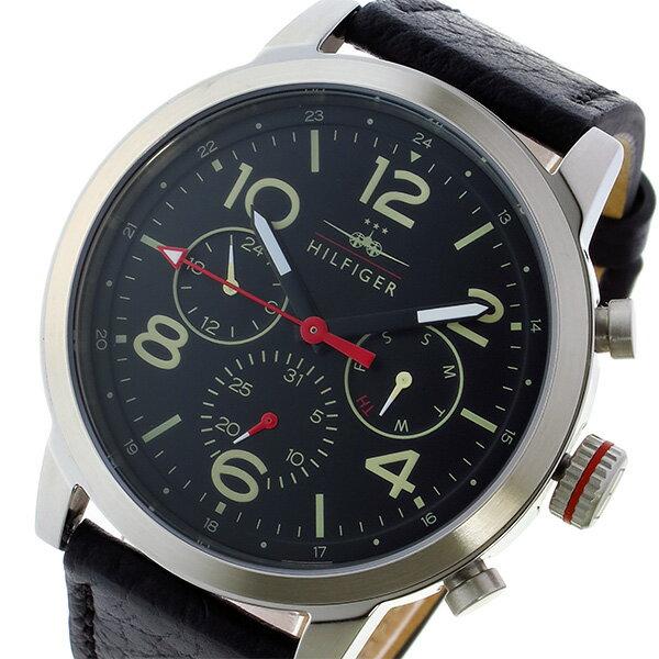 トミー ヒルフィガー TOMMY HILFIGER クオーツ メンズ 腕時計 1791232 ブラック