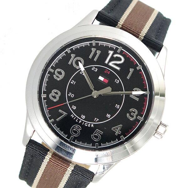 トミー ヒルフィガー TOMMY HILFIGER クオーツ メンズ 腕時計 1791330 ブラック