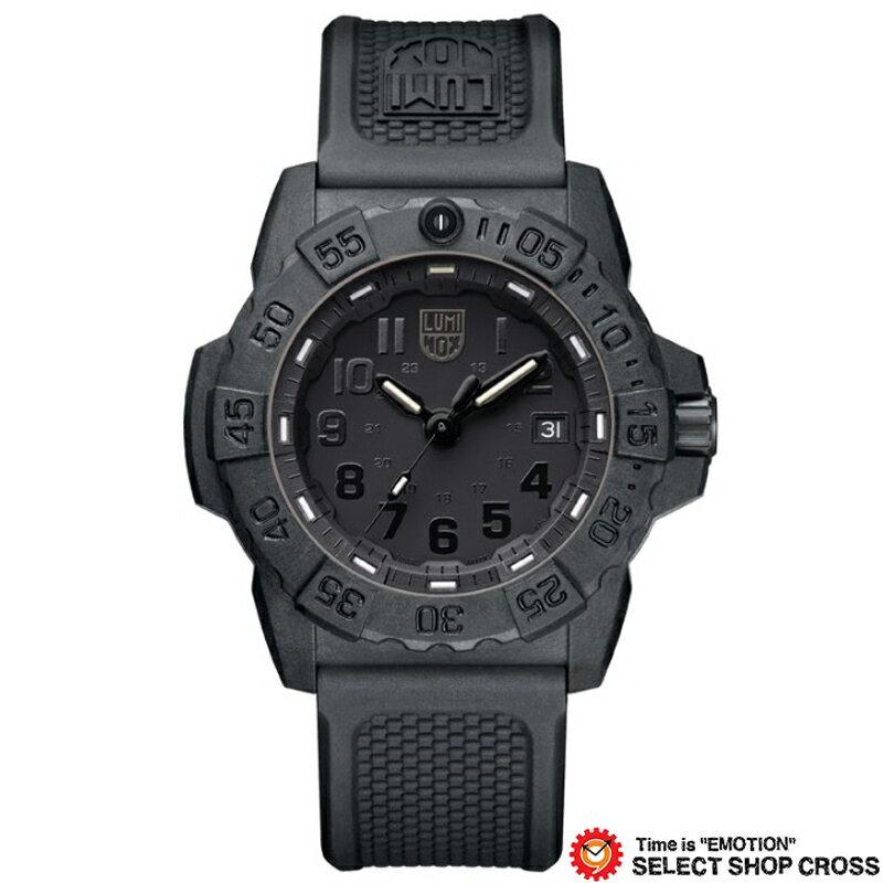 LUMINOX ルミノックス 腕時計 メンズ ネイビーシール Navy SEAL 3500 SERIES オールブラック 3501 Blackout