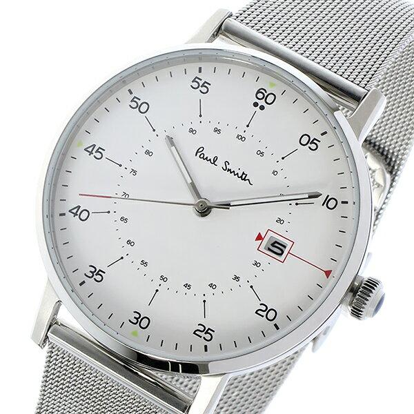 ポールスミス PAUL SMITH ゲージ GAUGE クオーツ メンズ 腕時計 P10075 ホワイト 誕生日プレゼント 男性 ホワイトデー ギフト