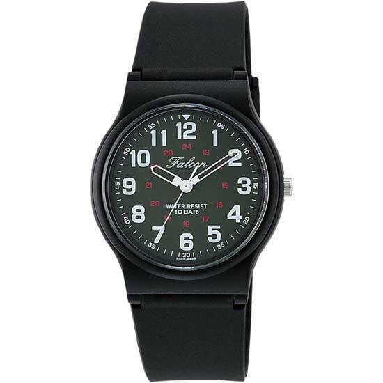CITIZEN Q&Q シチズン キューアンドキュー 腕時計 アナログ ユニセックス ファルコン vp46-857 ダークグリーン×ブラック メール便発送/代引きは送料・手数料別途