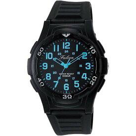 Q&Q シチズン キューアンドキュー 腕時計 ブランド アナログ メンズ レディース ユニセックス ミリタリー vp84-852 ブラック×ブルー ゆうパケット対応