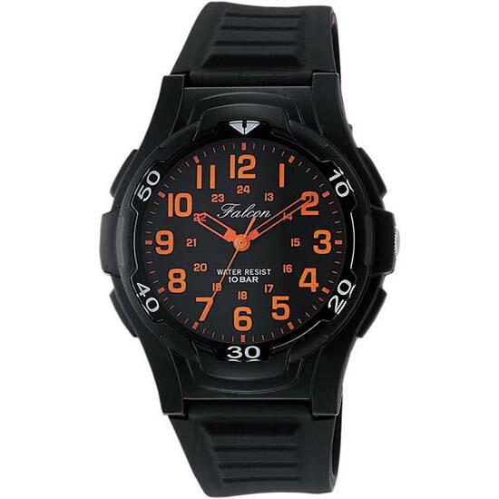 CITIZEN Q&Q シチズン キューアンドキュー 腕時計 アナログ ユニセックス ミリタリー vp84-853 ブラック×オレンジ メール便発送/代引きは送料・手数料別途