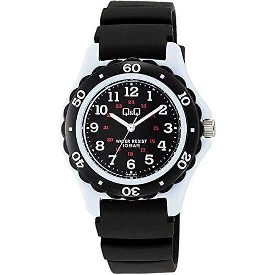 CITIZEN Q&Q シチズン キューアンドキュー 腕時計 アナログ ユニセックス スポーツウォッチ vs03-001 ブラック×ホワイト メール便発送/代引きは送料・手数料別途